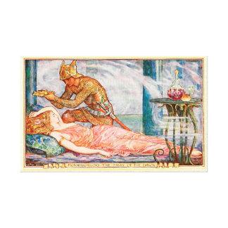 夜明けの妖精のためのリース キャンバスプリント