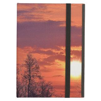 夜明けの日の出及びツリーブランチの自然の芸術 iPad AIRケース