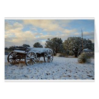 夜明けの早いライトの朝の雪 カード