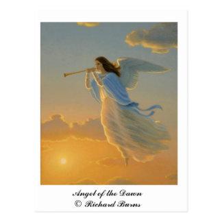 夜明けの郵便はがきの天使 ポストカード