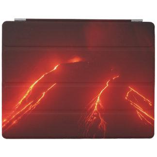 夜火山爆発: 明るい溶岩流 iPad カバー