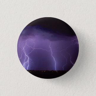 夜砂漠の雷雨の紫色の稲妻 3.2CM 丸型バッジ