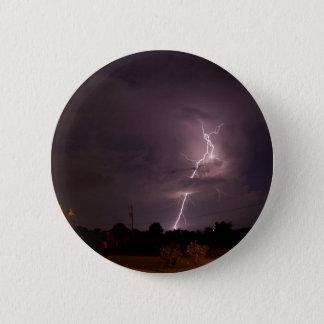 夜稲妻の雨雲 5.7CM 丸型バッジ