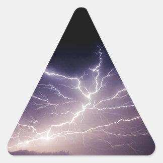 夜稲妻 三角形シール