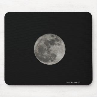 夜空に対する満月 マウスパッド