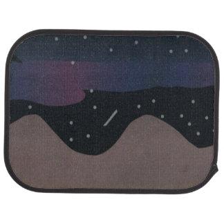 夜空のデザインのカーマット カーマット