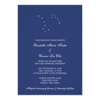 夜空の星座の結婚 12.7 X 17.8 インビテーションカード