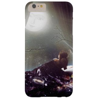 夜空の精神的な宇宙病気の白熱[赤熱]光を放つな月 BARELY THERE iPhone 6 PLUS ケース