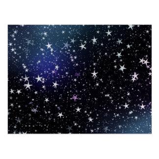 夜空を主演します ポストカード