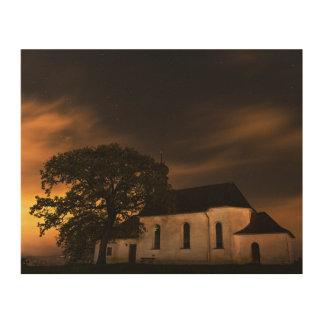 夜空教会 ウッドウォールアート