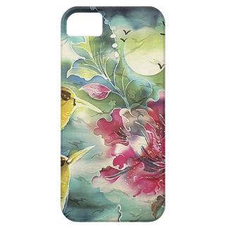 夜絹の芸術の美しいハチドリ iPhone SE/5/5s ケース