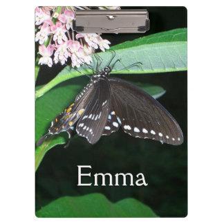 夜蝶黒のアゲハチョウの自然の写真 クリップボード
