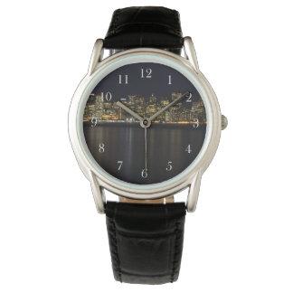 夜警員のサンフランシスコのスカイライン 腕時計