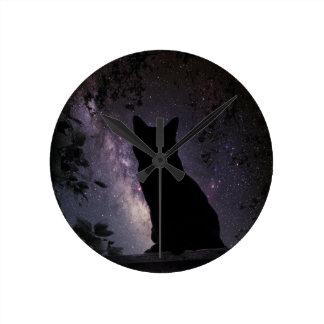 夜警員 ラウンド壁時計