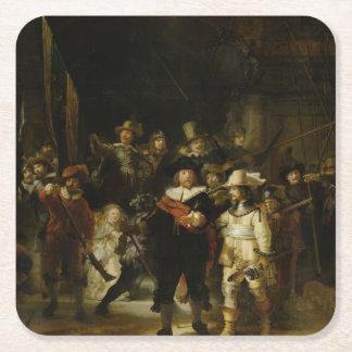夜警員、Rembrandt Van Rijn スクエアペーパーコースター
