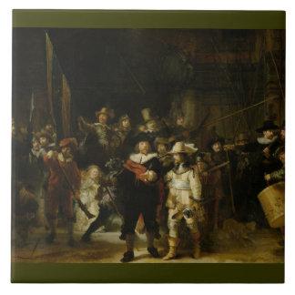 夜警員、Rembrandt Van Rijn タイル