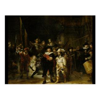 夜警員、Rembrandt Van Rijn ポストカード
