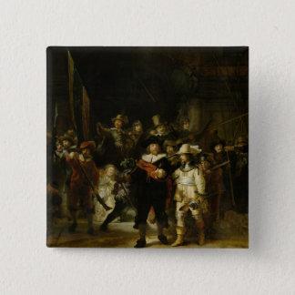 夜警員、Rembrandt Van Rijn 5.1cm 正方形バッジ