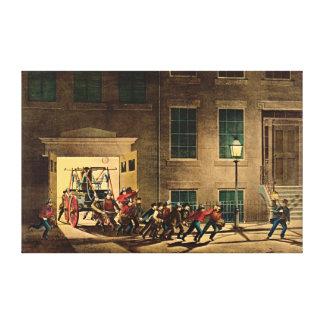 夜警報1854年 キャンバスプリント
