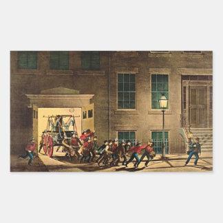 夜警報1854年 長方形シール