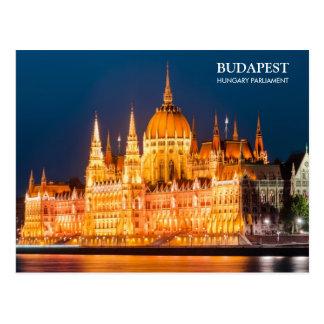夜郵便はがきのブダペストの議会 ポストカード