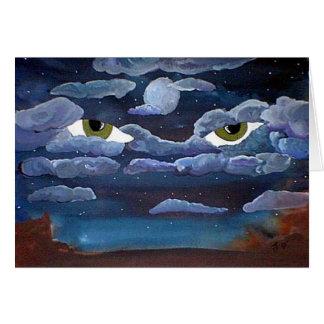 夜錯覚の挨拶状 カード