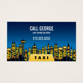 夜間営業カードの都市のタクシー 名刺