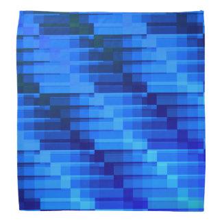 夜青いモダンの抽象芸術の建物 バンダナ
