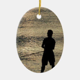 夜魚釣り セラミックオーナメント