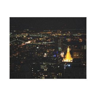 夜001の南マンハッタンの東側 キャンバスプリント