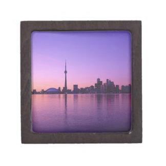夜、オンタリオ、カナダのトロントのスカイライン ギフトボックス