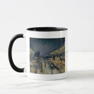 夜~カミーユ・ピサロのBoulevarde Montmartre マグカップ