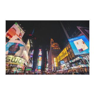 夜、伸ばされたキャンバスのプリントのタイムズ・スクエア キャンバスプリント