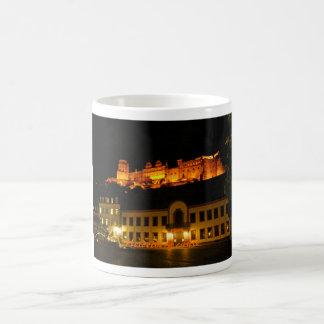 夜(変形させるマグ)のハイデルベルクの城 モーフィングマグカップ