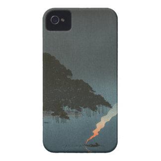 夜-日本人のWoodblockのプリントのKarasakiのマツ Case-Mate iPhone 4 ケース