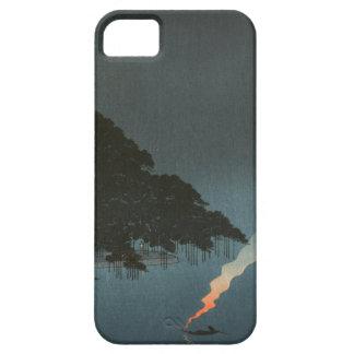夜-日本人のWoodblockのプリントのKarasakiのマツ iPhone SE/5/5s ケース