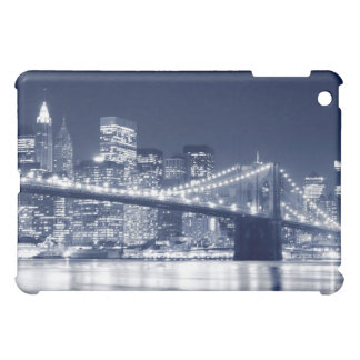 夜、Neのブルックリン橋そしてマンハッタンスカイライン iPad Miniケース