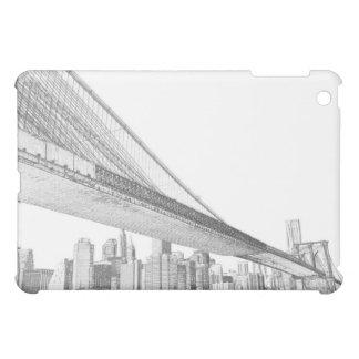 夜、Neのブルックリン橋そしてマンハッタンスカイライン iPad Mini カバー