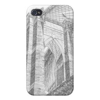 夜、Neのブルックリン橋そしてマンハッタンスカイライン iPhone 4/4Sケース