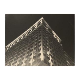 夜B及びWのセントルイス ウッドウォールアート