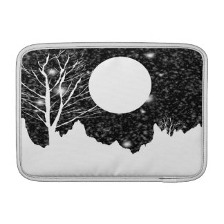 夜Macbookの月明りの空気袖の雪突風 MacBook スリーブ