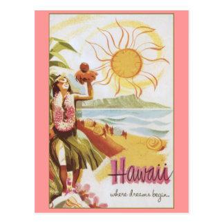 -夢が始まるところハワイか ポストカード