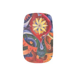 夢のインディの抽象美術 ネイルアート