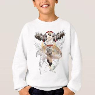 夢のキャッチャーおよび羽およびタカの顔のワイシャツ スウェットシャツ