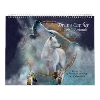 夢のキャッチャーの精神動物の芸術のカレンダー カレンダー