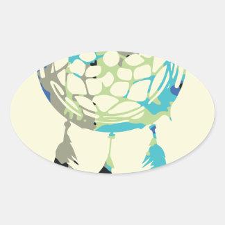 夢のキャッチャー 楕円形シール