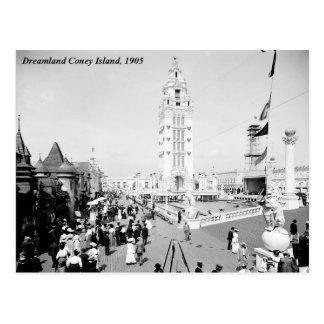夢の国の遊園地、コニーアイランドニューヨーク ポストカード