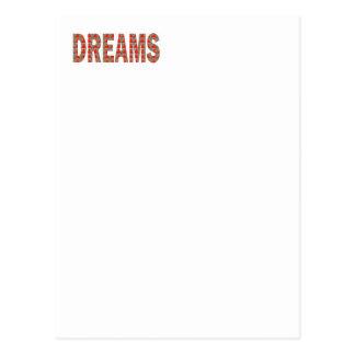 夢の夢みる人の睡眠の眠いファッションの低価格のギフト ポストカード