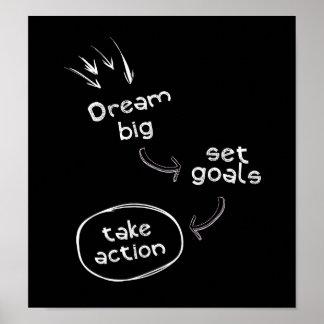 夢の大きいセットのゴールは行為にやる気を起こさせるな引用文を取ります ポスター