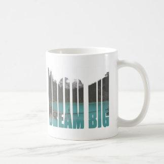 夢の大きいタイポグラフィ コーヒーマグカップ